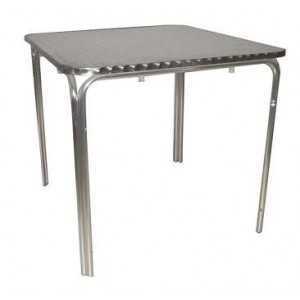 Mesa en aluminio para hostelería 70x70cm
