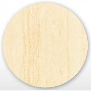 Tablero werzalit de Ø60 cm en color travertino