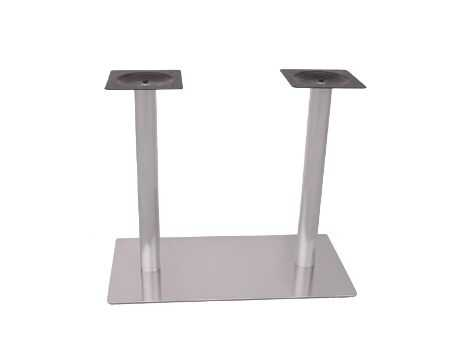 Pie de mesa doble E24 tubo redondo