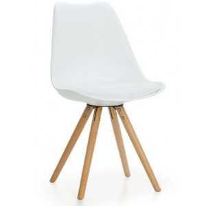 Silla de inspiración Eames Blanca