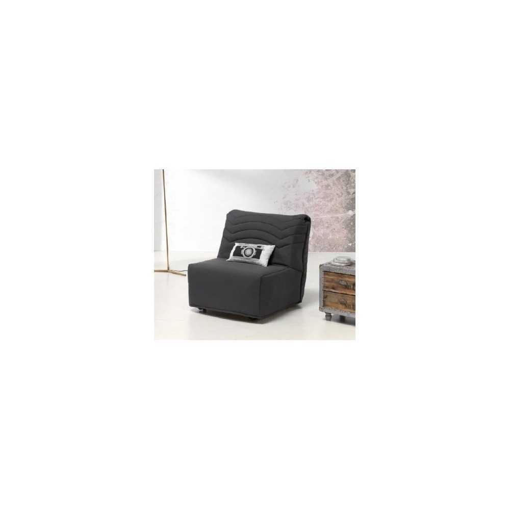 sof cama modelo ruta en monoplaza negro