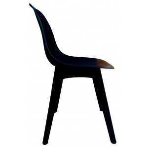 Silla Charly réplica en negro