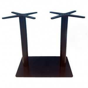 Pie de mesa doble E93 tubo redondo