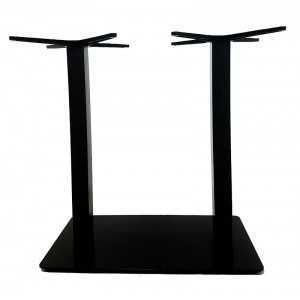 Pie de mesa doble E93 tubo cuadrado