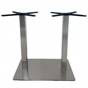 Pie de mesa doble E24 tubo cuadrado