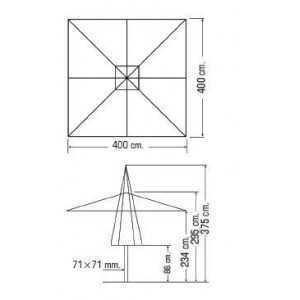 PARASOL ALUMINIO 4×4 M