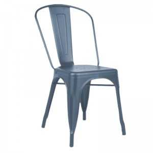 Silla metal industrial en color gris